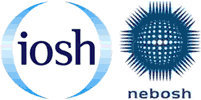NEBOSH logo and IOSH logo